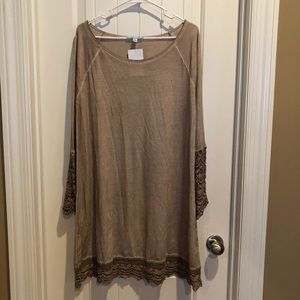 Tunic top with crotchet detail